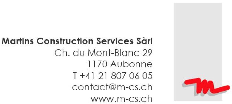 Martin Construction Services SàRL